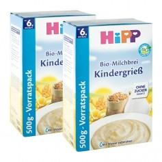 2 x HiPP Bio-Milchbrei Kindergrieß