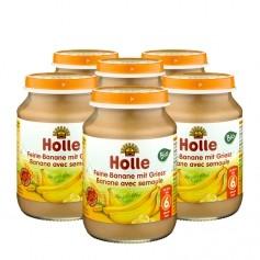 Holle 6 x Bio Feine Banane mit Griess