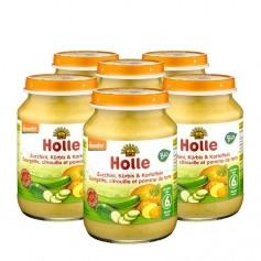 Holle 6 x Bio Zucchini, Kürbis & Kartoffeln