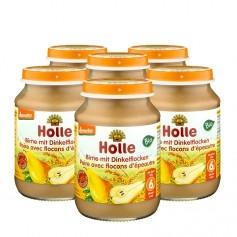 Holle 6 x Bio Feine Birne, Dinkelflocken