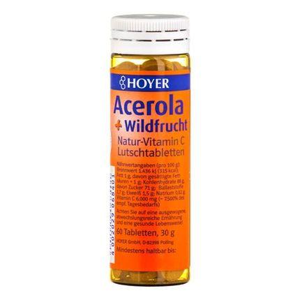 Hoyer Acerola og vilde bær med vitamin C, sugetabletter