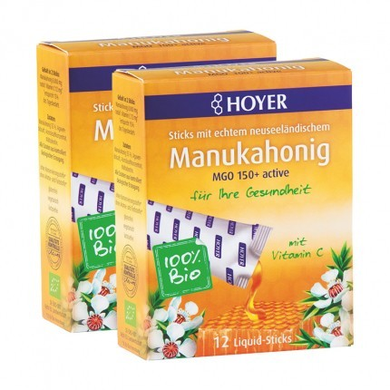 2 x Hoyer Bio Manuka-Honig Liquid-Sticks MGO 100+ active