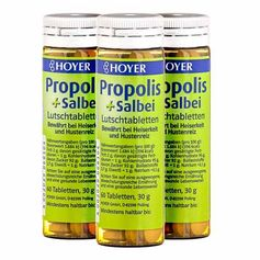3 x Hoyer Propolis und Salbei Bio, Lutschtabletten