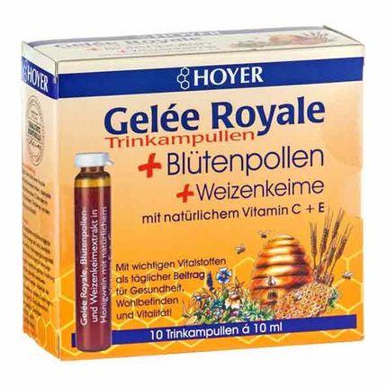 Hoyer drottninggelé drickampuller med pollen och vetegroddar