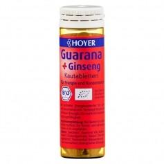 Hoyer ekologisk guarana och ginseng, tuggtabletter