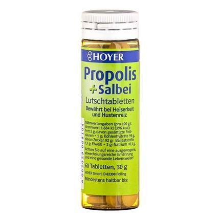 Hoyer ekologisk propolis och salvia, sugtabletter