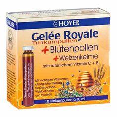 Hoyer Gelée Royale drkkeampuller med blomsterpollen og hvedeklid
