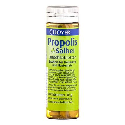 Hoyer Organic Propolis & Sage Lozenges