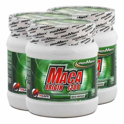 3 x IronMaxx Maca Origin, Kapseln