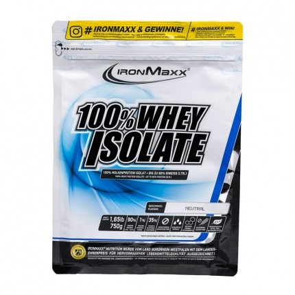 IronMaxx Whey Isolate, Neutral, Pulver (750 g)