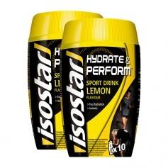 2 x Isostar Hydrate & Perform Lemon, Pulver