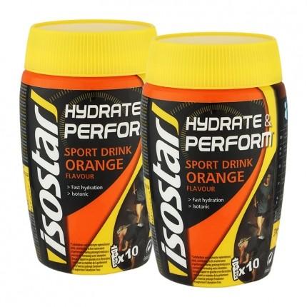2 x Isostar Hydrate & Perform Orange, Pulver