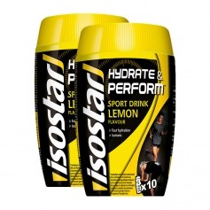 2 x Isostar Hydrate & Perform Lemon, Pulver