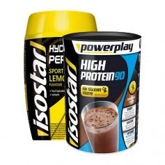 Isostar Power Play High Protein 90 Schokolade + Isostar Hydrate & Perform Lemon, Pulver