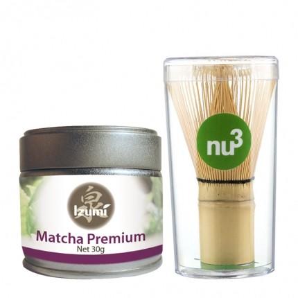 Izumi Bio Matcha Premium mit nu3 Matcha Besen