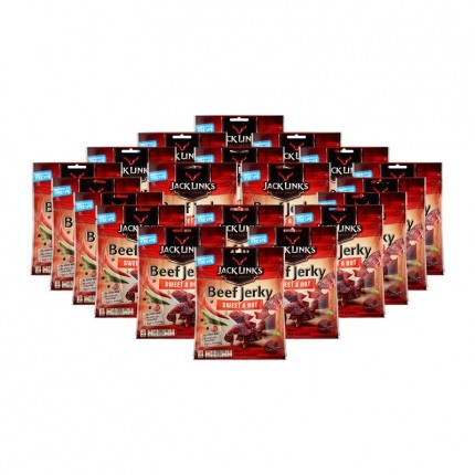 20 x Jack Link's Beef Jerky Sweet and Hot