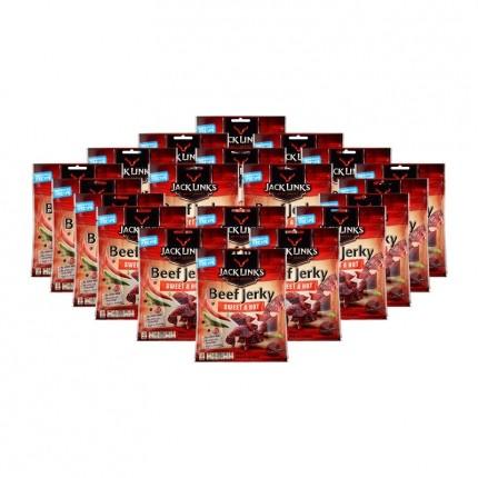 20 x Jack Link's Beef Jerky Sweet & Hot