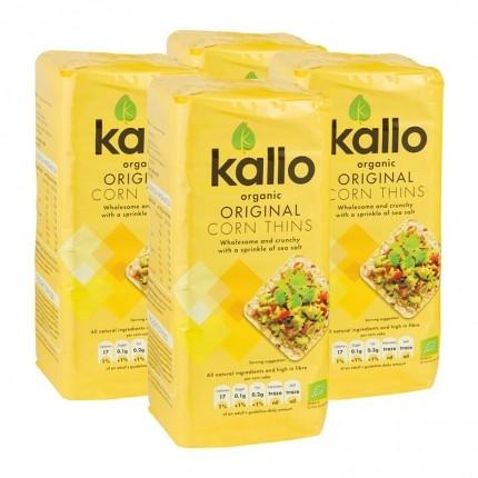 4x Kallo Thin Organic Corn Cakes