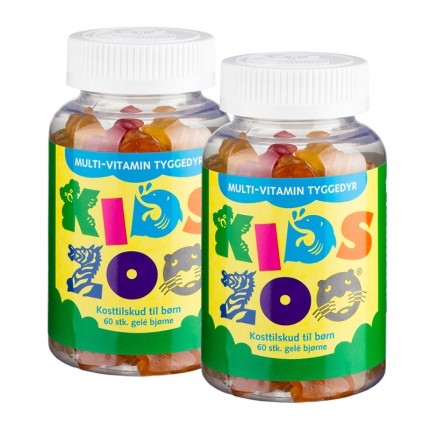 2 x Kids Zoo Multivitamin Gelé Bjørn