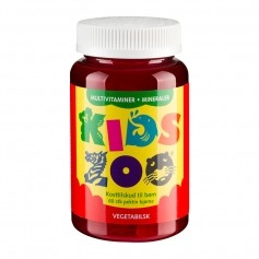 Kids Zoo Multivitaminer + Mineraler Gelé Bjørn, Vegetabilsk
