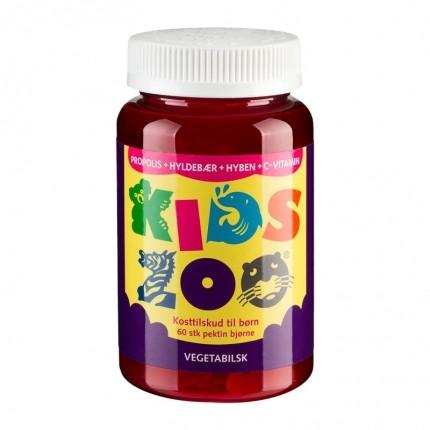 Kids Zoo Propolis + Hyldebær + Hyben + C-vitamin, Vegetabilsk