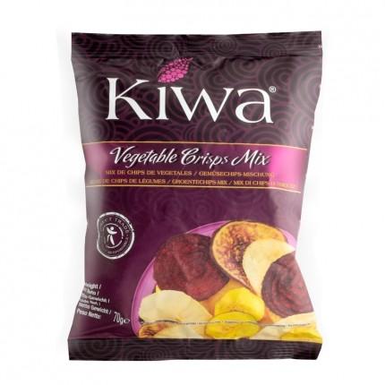 6 x Kiwa Original Obst- und Gemüsechips