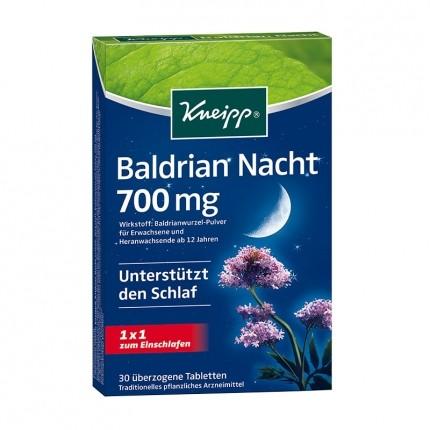 kneipp baldrian nacht 700 mg tabletten f r besseren schlaf. Black Bedroom Furniture Sets. Home Design Ideas