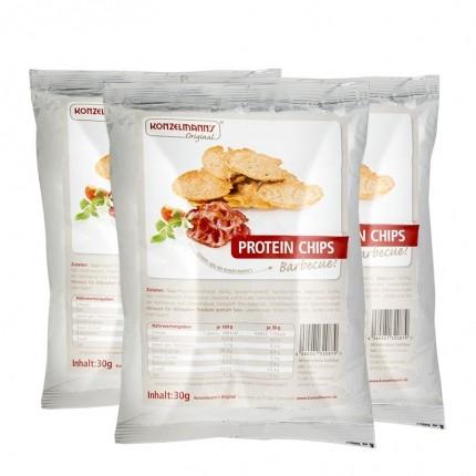 3 x Konzelmann's Original Protein Chips Barbecue