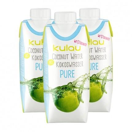 Kulau Bio Kokoswasser Pure (3 x 330 ml)