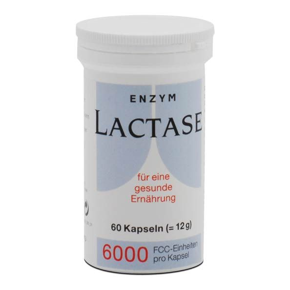 Lactase 6000 Capsules For The Lactose Intolerant
