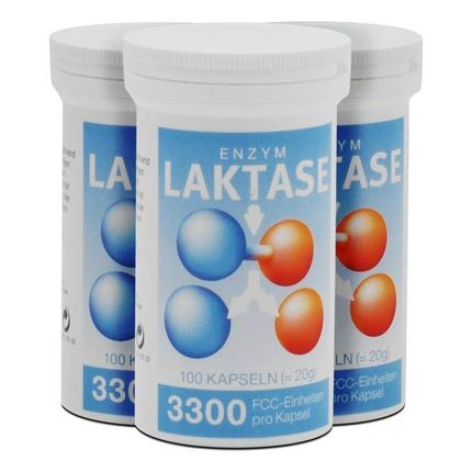 3 x Laktase 3300 FCC Enzym Kapseln