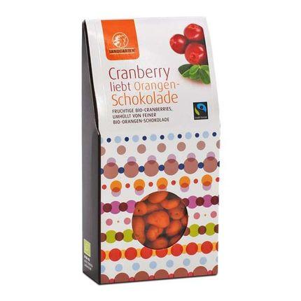 Landgarten Bio Cranberry liebt Orangenschokolade
