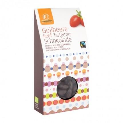 Landgarten Bio Goji-Beere liebt Zartbitterschokolade