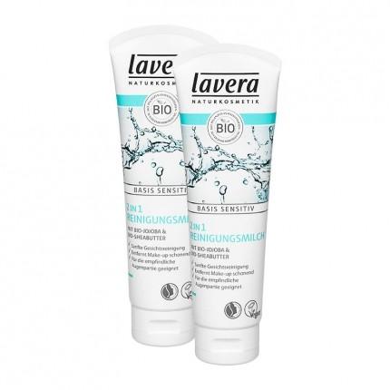 Lavera Basis Sensitiv 2in1 Reinigungsmilch (2 x 125 ml)