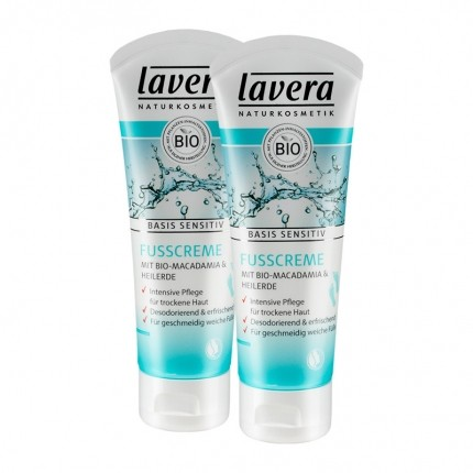 Lavera basis sensitiv Fußcreme Doppelpack