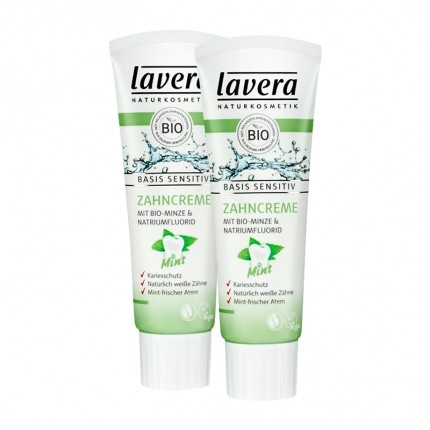 Lavera basis sensitiv Zahncreme Mint Doppelpack