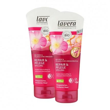 Lavera, Hair pro soin réparateur après-shampooing, lot de 2