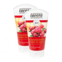 Lavera Regenerierende Creme-Öl Dusche Bio-Cranberry & Arganöl Doppelpack