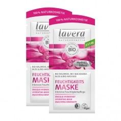 Lavera, Masque vitalisant bio, rose sauvage/macadamia, lot de 2