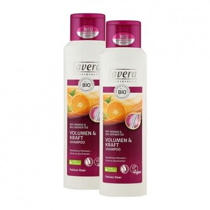 Lavera, Hair pro shampooing volume, lot de 2