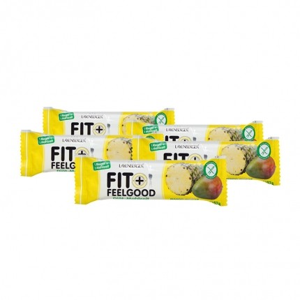 5 x Layenberger Fit+Feelgood Diät-Mahlzeit-Riegel Mango-Ananas White Chocolate