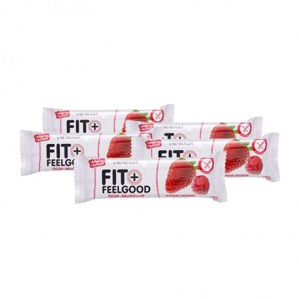 15 x Layenberger Fit+Feelgood Diettmåltids-bar bringebær-jordbæryoghurt