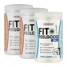 Layenberger Fit+Feelgood Schlank-Diät Schoko-Vanille-Mix Dreierpack, Pulver
