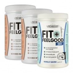 Layenberger Fit+Feelgood Schlank-Diät Schoko-Vanille-Mix Dreierpack, Pulver