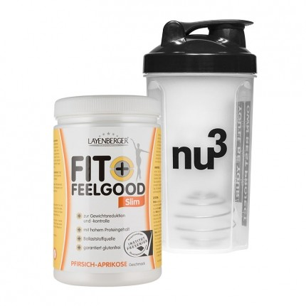 Fit+Feelgood Slim + nu3 Shaker, Pfirsich-Aprikose