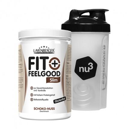 Layenberger Fit+Feelgood Schlank-Diät Schoko-Nuss + nu3 Shaker