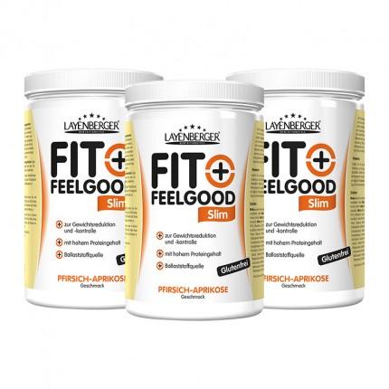 3 x Layenberger Fit+Feelgood Schlank-Diät Pfirsich-Aprikose, Pulver