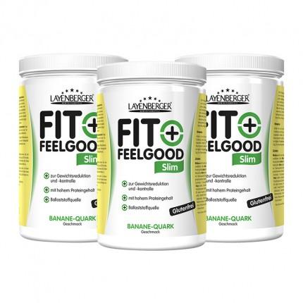 3 x Layenberger Fit+Feelgood Schlank-Diät Banane-Quark, Pulver