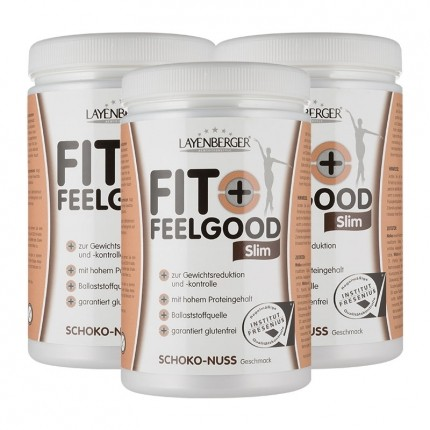 3 x Layenberger Fit+Feelgood Schlank-Diät Schoko-Nuss, Pulver