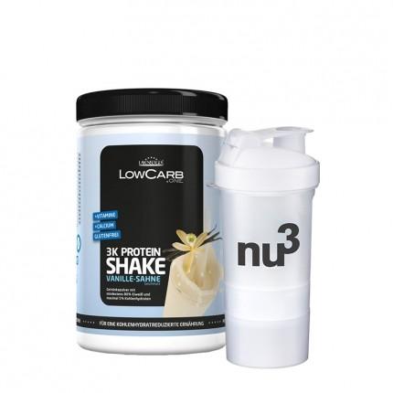 Layenberger LowCarb.one 3K Proteinshake vanilje-fløte + nu3 SmartShake